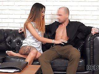 Debt4k. Petite model Roxy Lips  with hyp body has sex