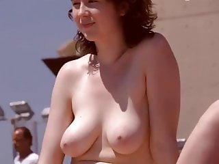 Topless beach Big tits