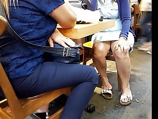 Sexy sitting, milf legs, quick upskirts, sexy feets